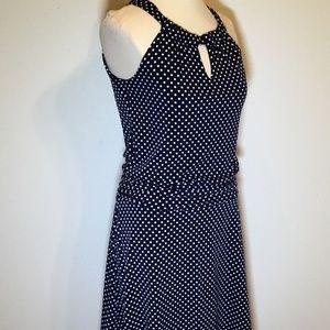 Navy Blue Polka Dot Sun Dress EnFocus Sz 6